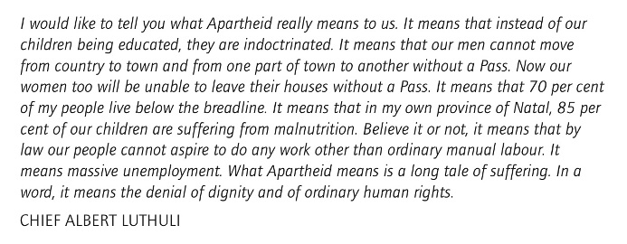 Luthuli apartheid quote