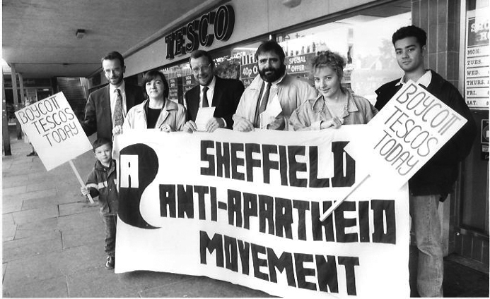 Sheffield AAM supporters outside Tesco