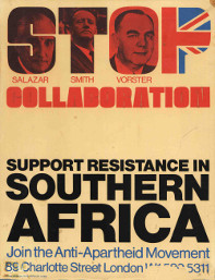 The Anti-Apartheid Movement campaigned against the 'unholy alliance'