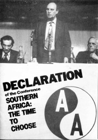 Declaration of the AAM's 'Southern Africa