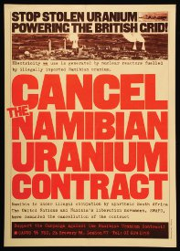 Cancel Namibian Uranium contract Poster