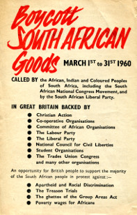 Leaflet asking people to take part in the Month of Boycott