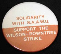 Badge with Solidarity with S.A.A.W.U.