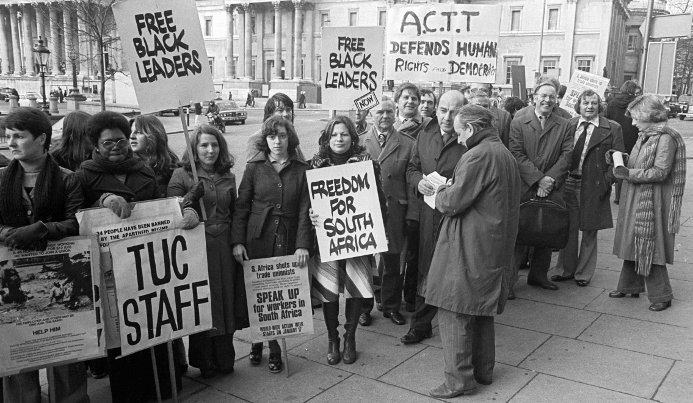 British trade unionists supported a worldwide Week of Trade Union Action