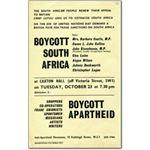 60s11. 'Boycott South Africa'
