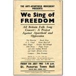 60s32. 'We Sing of Freedom' leaflet