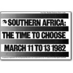 80s05. 'Southern Africa: The Time to Choose' conference