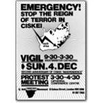 80s14. Ciskei vigil