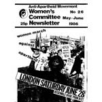 wnl26. AAM Women's Newsletter 26, May–June 1986