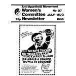 wnl27. AAM Women's Newsletter 27, July–August 1986