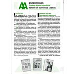 aae09. AA Enterprises Report 1987–88