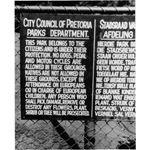 apd05. Pretoria Parks Department notice