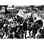 apd22. School students protest in Soweto