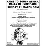 arm13. Hyde Park rally against arms sales to South Africa