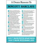 bar05. A Dozen Reasons to Boycott Barclays