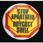bdg32. Stop Apartheid Boycott Shell