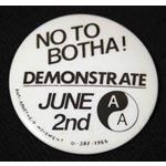 bdg38. No to Botha! Demonstrate June 2nd
