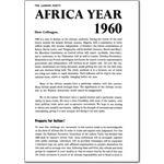 bom13. Africa Year 1960