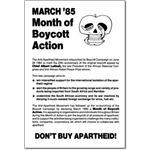 boy04. 1985 March Month of Boycott Action
