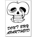 boy06. 'Don't Buy Apartheid' postcard