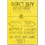 boy33. Don't Buy Apartheid Products