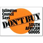 boy41. Islington Council Says Don't Buy South African Goods