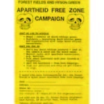 boy47. Forest Fields and Hyson Green Apartheid Free Zone Campaign