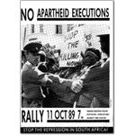 hgs21. 'No Apartheid Executions' rally