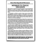 lgs21. Brent AA Group message to trade unionists