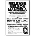 mda08. Mandela 65th birthday meeting