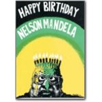 mda14. Nelson Mandela 70th birthday card