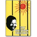 mda15. Nelson Mandela 70th birthday card