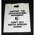 msc25. 'Don't Buy South African Goods' bag
