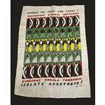 msc29. 'Isolate Apartheid Support the Frontline States' tea towel