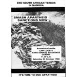 nam29. 'End South African Terror in Namibia'