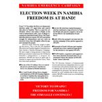 nam36. Namibia Election Week