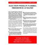 nam36. Namibia Election Week