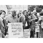 pic7802. Trade union picket for Solomon Mahlangu