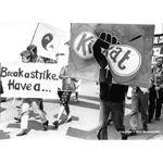 pic8213. 'Break a strike. Have a Kit Kat'