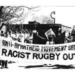 pic8406. England rugby tour protest
