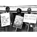 pic8412. Black councillors say 'No to Botha'