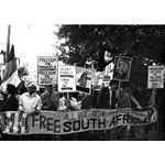 pic8509. Protest against the South African State of Emergency, 1985