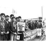 pic8802. Turkish community says 'Boycott Shell'