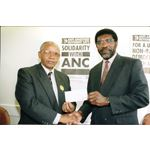 pic9307. Trade unions back ANC election fund