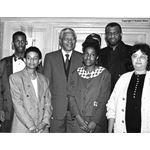 pic9312. Mandela with Stephen Lawrence's family