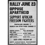 po004. Rally June 23: Oppose Apartheid: Support African Freedom Fighters