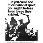 po007. 'If you could see their national sport, you might be less keen to see their cricket'