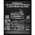 po012. 'British arms will make a great contribution to South Africa's way of life'