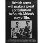 po013. 'British arms will make a great contribution to South Africa's way of life'