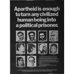po014. 'Apartheid is enough to turn any civilized human being into a political prisoner'